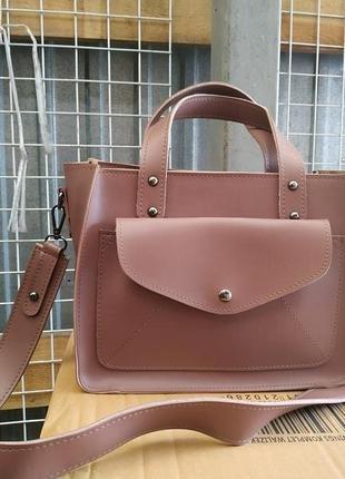 Есть наложенный платеж! розовая сумка на модной широкой ручке