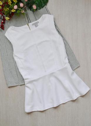 Нежная блузка с баской из фактурной ткани h&m