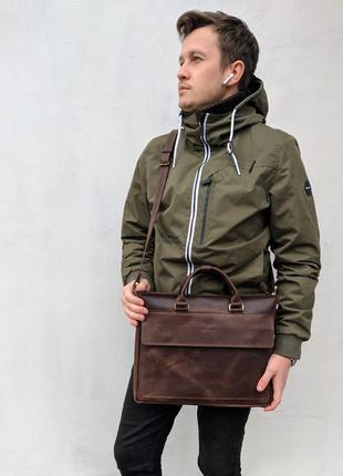 Мужская кожаная сумка для документов clifford 016