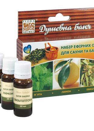 Набор эфирных масел для сауны и бани «Душевная баня» 3 по 10 м...