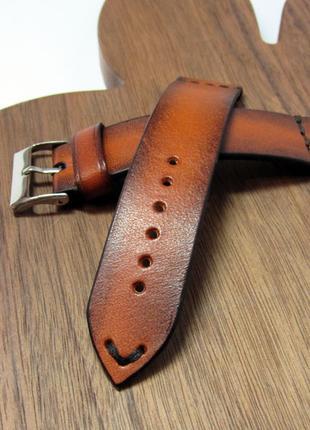 Ремешок для часов, 22мм, кожаный