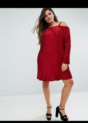 Брендовое шикарное велюр платье плиссе 24/58-60 размера
