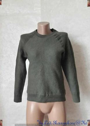 Новый мягкий шерстяной со 100%шерсти свитер/кофта цвета хаки/о...