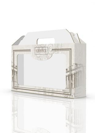 Коробка подарочная для банных шапок/полотенец Luxyart размер: ...