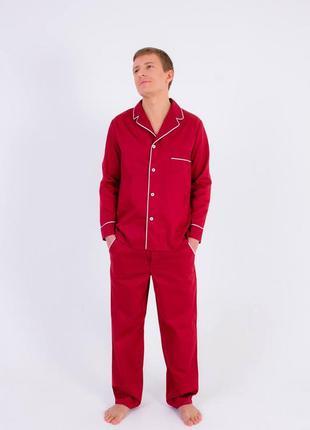 🌙домашние пижамные бордовые брюки