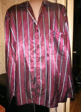 🌙атласная брендовая домашняя рубашка,рубашка для сна с длинным...