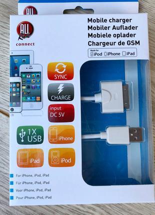 Usb айфон 4/4s, кабель, зарядка, зарядне, iphone