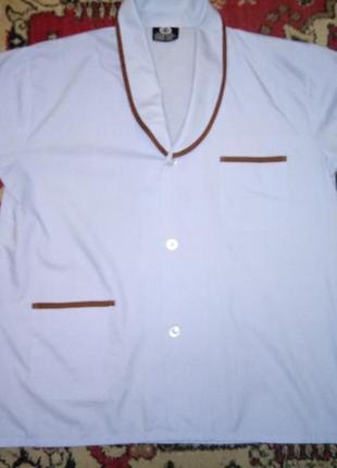 🌙голубая рубашка для сна с коротким рукавом 48/50.распродажа.