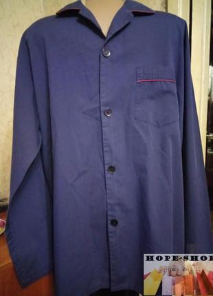 🌙хлопковая рубашка для сна с длинным рукавом  l.распродажа.