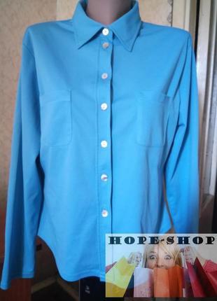 👚женская голубая рубашка 16.распродажа.