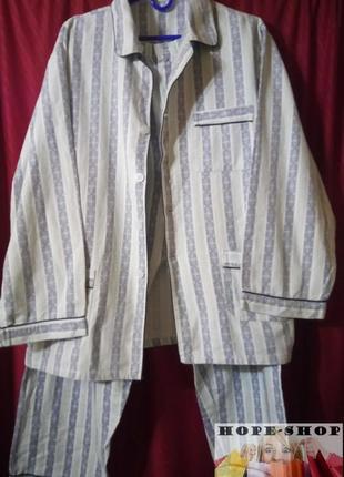 💞🌙мужская ,тёплая ,полосатая пижама на пуговицах с брюками.xl ...