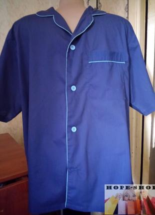 🌙синяя рубашка для сна с коротким рукавом l.распродажа.