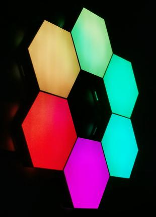Модульный сенсорный LED светильник. Соты на USB  с пультом