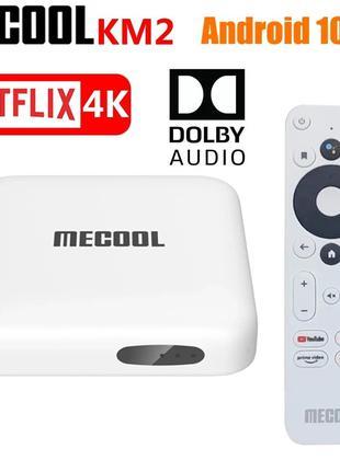 Новинка TV Box MECOOL KM2 Netflix 4K Сертифицированый Android 10