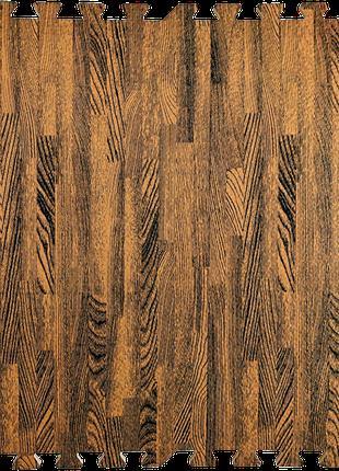Модульное напольное покрытие 600*600*10 мм коричневое дерево