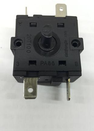 Переключатель режимов XK-2 15A 250V T100 5 контактов 4 положения