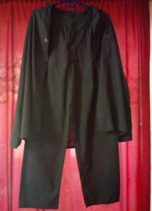 🌙мужская пижама на пуговицах с брюками тёмно синяя м