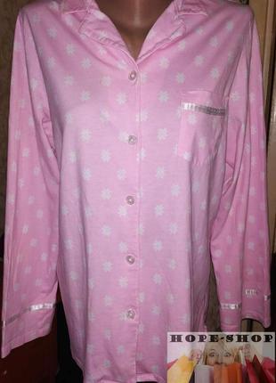💞трикотажная розовая принтованная домашняя рубашка,рубашка для...
