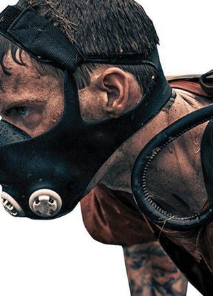 Маска для тренировок ограничитель дыхания, Тренировочная маска...
