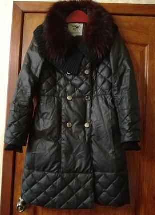 Пальто зимнее пух перо р.38 minicoloring