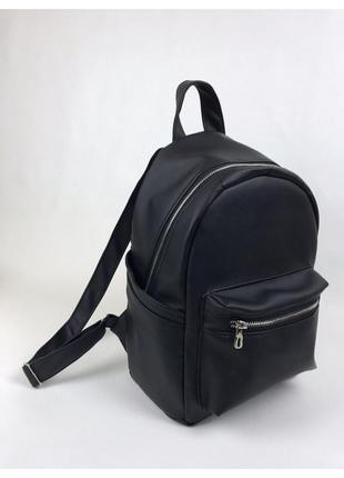 Женский черный рюкзак портфель