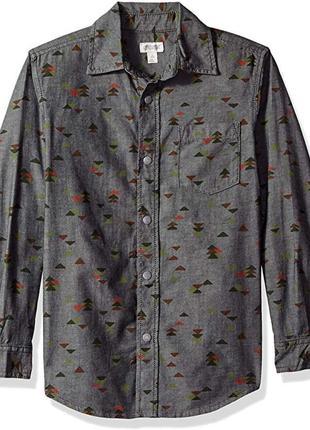 Рубашка для мальчика 10-12 лет на кнопках gymboree