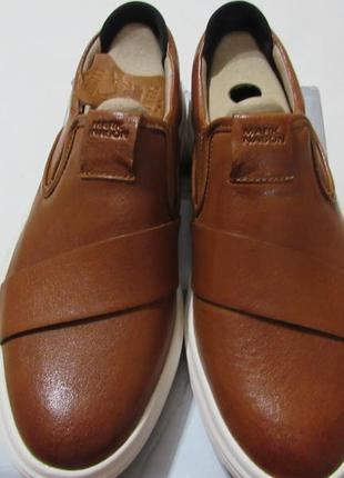 Мужские кожаные кроссовки туфли 26см стелька 40 eur