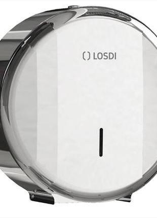 Диспенсер рулонной туалетной бумаги, Металл, Хром (полированное)
