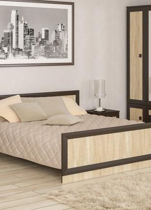 """Кровать """"Даллас"""" 160х200 см. Венге/Дуб Сонома"""