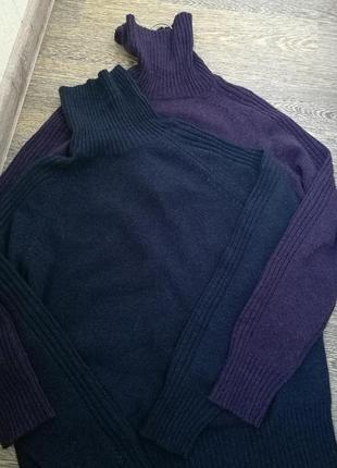 Теплый шерстяной свитер,гольф