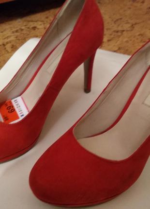 Красные замшевые туфли на высоком каблуке Jenny Fairy р.37
