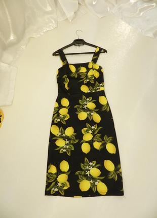 ✅ красивое платье по фигуре с сочными и яркими лимонами