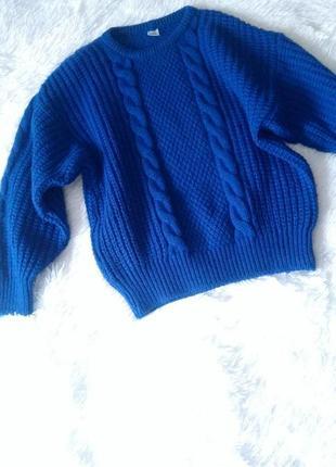 Мега теплый зимний свитер оверсайз крупной вязки