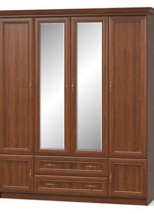 "Шкаф ""Даллас"" 180х58х216 см. Вишня, 4Дв/2Ш"