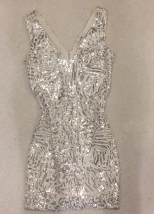 Платье на новый год в пайетках xs-s 42-44 36 пайетках паетки н...