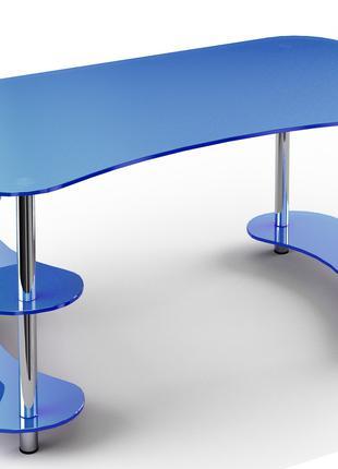 Стол офисный 165х90х76 см. С полками, Цвет на выбор, С-3