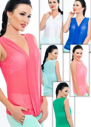 """Летние женские блузки """"Fresh"""" модные цвета"""