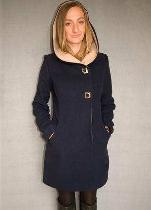 Пальто женское №49 ЗИМА (синий)