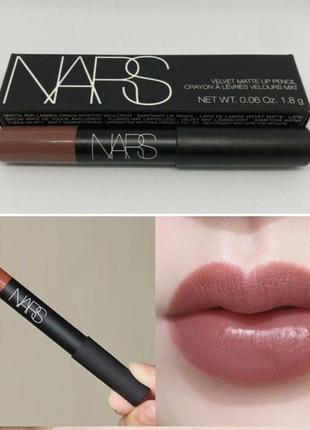Матовая помада -карандаш nars velvet matte lip pencil