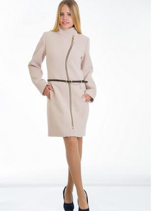Пальто женское №4 ЗИМА (бежевый)