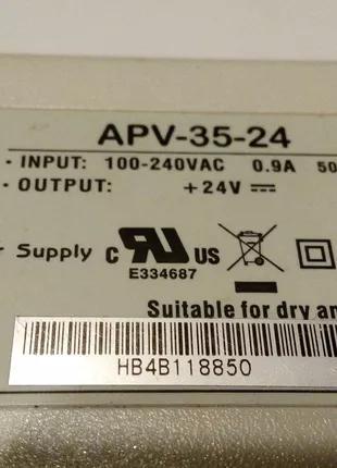 Блок питания 24 Вольт APV-35-24 сетевой адаптер зарядное