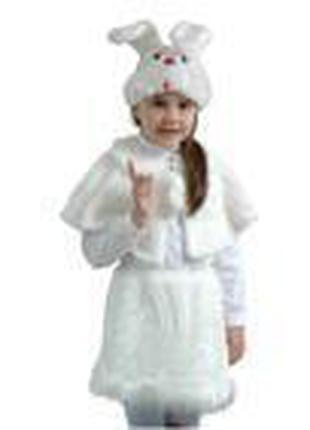 Маскарадный костюм меховой Зайка размер М