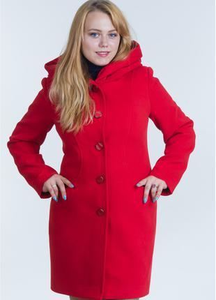 Пальто женское №17 ЗИМА (красный)