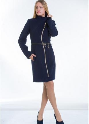 Пальто женское №4 ЗИМА (синий)