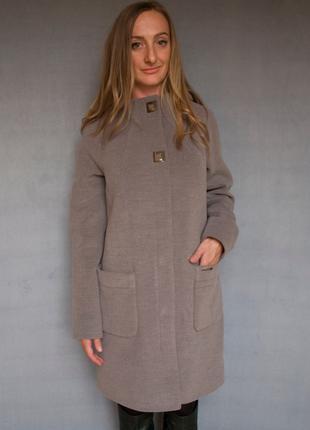 Пальто женское №51 ЗИМА (капучино)