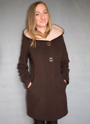Пальто женское №49 ЗИМА (шоколад)