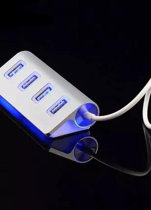 USB HUB 2.0 - 4 Порта,  Хаб,  Разветвитель