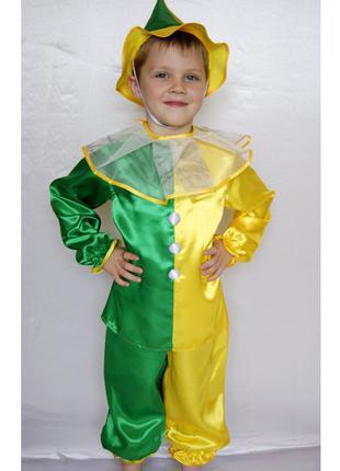 Детский карнавальный костюм для мальчика «петрушка»