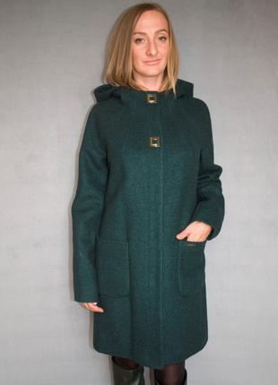Пальто женское №52 ЗИМА (зелёный)