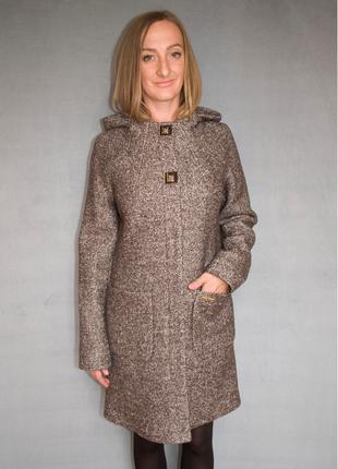 Пальто женское №52 ЗИМА (коричневый)